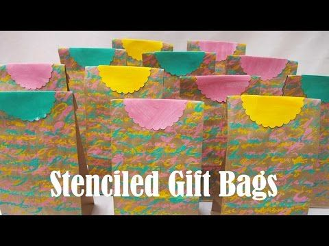Stenciling Turns a Boring Brown Bag Into Wonderful - great idea for Gelli Printing!