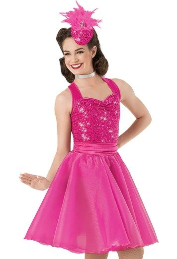 Weissman™ | Sequin Satin Organza Halter Dress