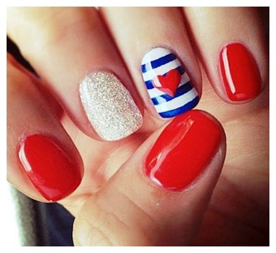 Cute Nail Designs Easy Do Yourself Cute Nail Designs 4th July  Nailsdesignsideascom - 22 Cute Easy Nail Designs. Cute Easy Nail Designs For Short Nails