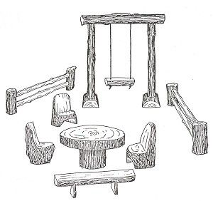 Outdoor wooden camp toys