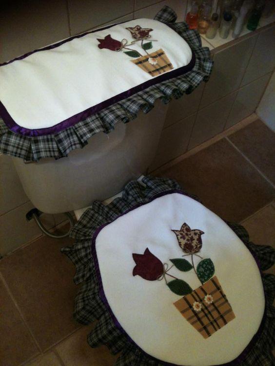 Juego de baño de tulipanes...  bathroom sets / juegos de ...