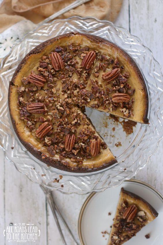 Pumpkin Cheesecake w/ Gingersnap Crust | Cheesecake, Pumpkins and ...