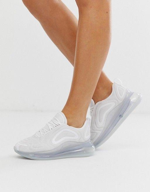 Nike white air max 720 sneakers   ASOS in 2020   White nikes