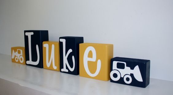Construction Birthday Party Centerpiece - Tractor Nursery Name - Digger Theme Birthday Party - Digger Truck Construction Baby Shower Decor by KnottedPineDesign on Etsy https://www.etsy.com/listing/292102797/construction-birthday-party-centerpiece