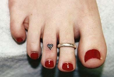Cute place for a small heart tattoo