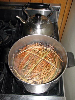 Pine Needle prep for crafts