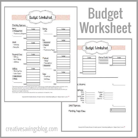 Building Your First Budget | Creative, Budget worksheets and Budget