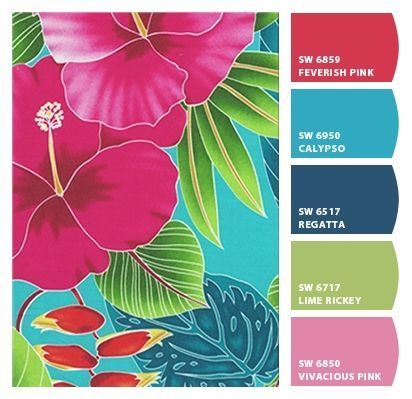 great paint colors from chip it by color with tropical color palette.