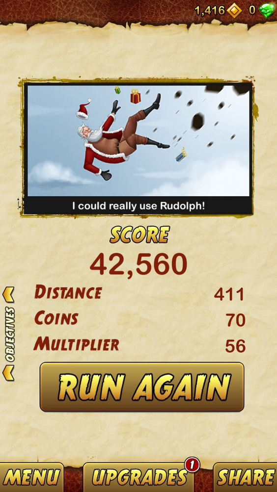 I got 42560 points while escaping from a Giant Demon Monkey. Beat that! http://bitly.com/TempleRun2iOS