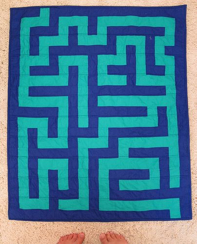 maze quilt: Quilt Inspiration, Quilts In, Quilts Mazes, Quilts Basic, Maze Quilts, Modern Quilts, Quilt Maze, Dimentional Quilts