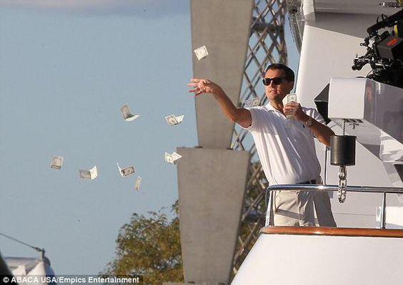 Belfort wolf of wall street leonardo dicaprio money cash make it rain