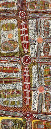 Anatjari No. III Tjakamarra / Bush Tucker Story 1971/72   71 x 30 cm
