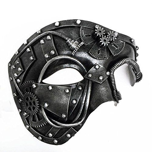 Mechanical Men Venetian Mask for Masquerade Steam Punk Phantom of The Opera Vintage//Mardi Gras//Halloween//Party//Ball Prom