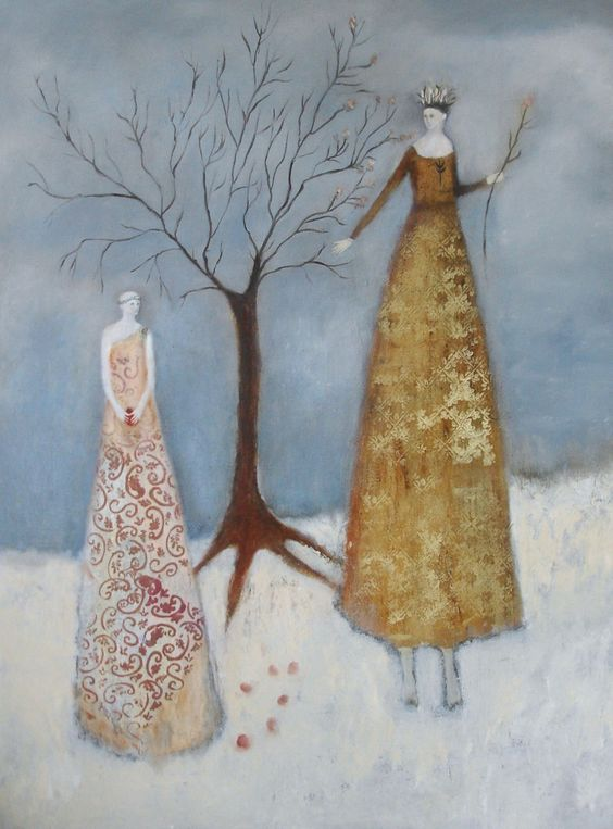 """Six Seeds by Jeanie Tomanek Oil painting, 48"""" x 36"""""""