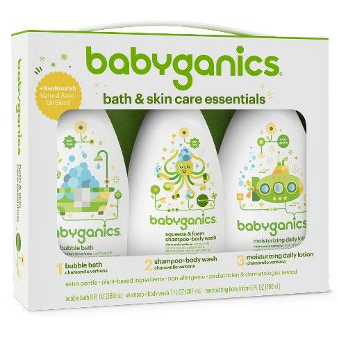 Babyganics Bath Time Regimen Kit Skin Care Bath Body Gift