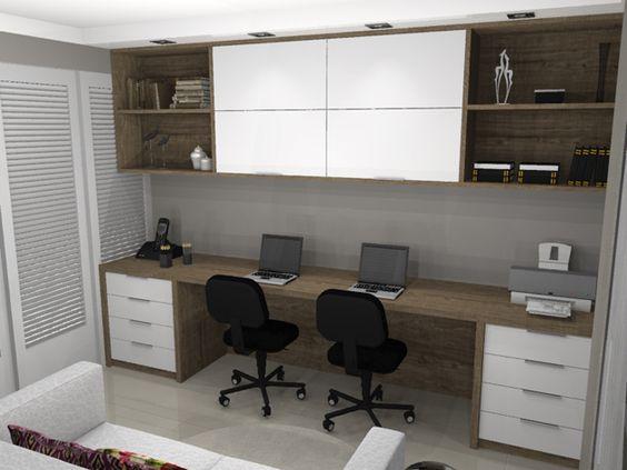 quarto de hospedes com escritorio home office  ~ Quarto Casal Pequeno Com Escritorio