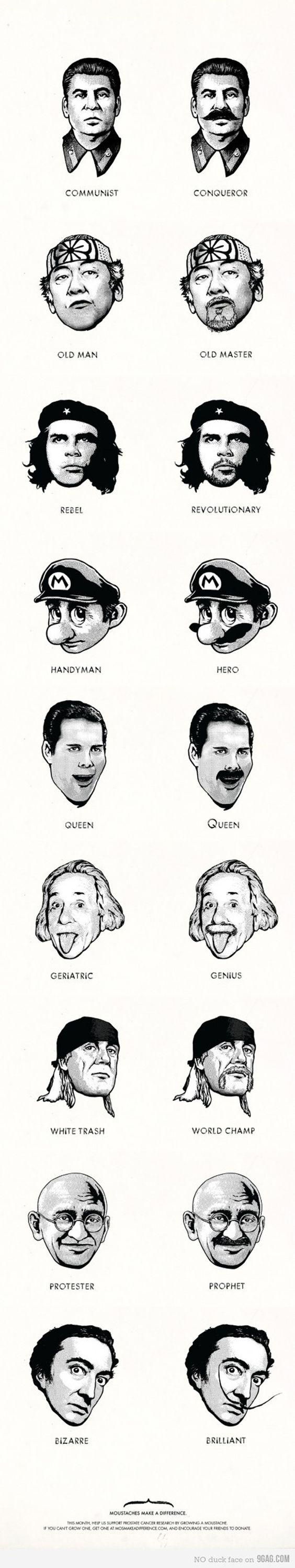 mustache makes the man
