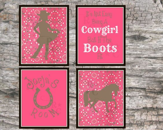 Cowgirl Nursery Cowgirl Theme Bedroom Horse prints Pony prints by Raising3Cains, $10.00 Bandana print Horse bedroom PRINTABLE wall art INSTANT DOWNLOAD cowgirl wall decor cowgirl Room decor wall prints
