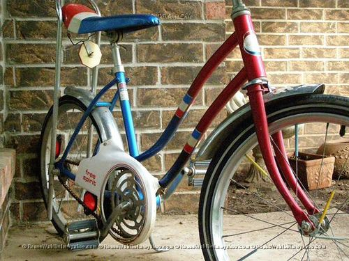 Girls Free Spirit Sears Spyder Bike Bicycle Red White Blue