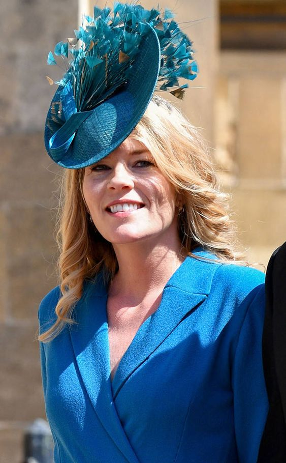 Autumn Phillips from All the Fascinators at the Royal Wedding Autum attended the wedding alongside husband Peter Phillips, the son of Princess Anne.