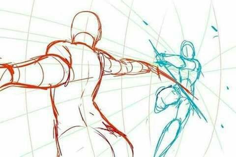 Bocetos Y Guias Para Dibujantes Poses De Pelea Dibujos Con Figuras Bocetos Poses De Combate