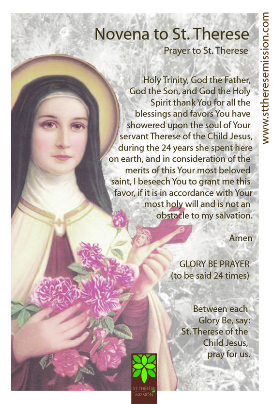 novena to st therese pdf