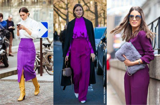Roupas e looks Ultra Violet, a cor 2018 segundo a Pantone.