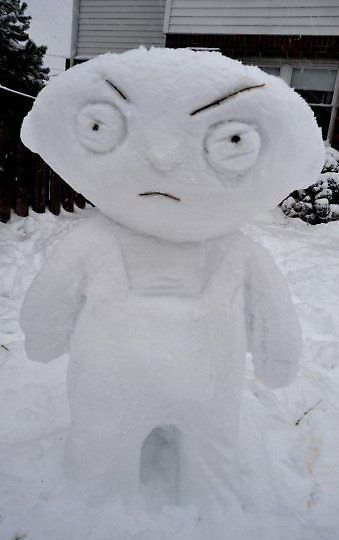 family guy snow sculpture #snowSculpture #snow #winter #sculpture #cartoon
