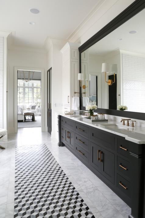 Midcentury Modern Bathrooms Pictures Ideas From Hgtv Bathroom Ideas Designs Hgtv White Master Bathroom Midcentury Modern Bathroom Bathrooms Remodel