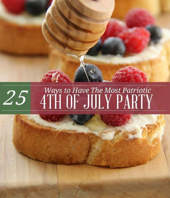 DIY 4th Of July Party Food Recipes and Crafts   Best Desserts and Decorations by Pioneer Settler at http://pioneersettler.com/25-ways-patriotic-4th-july-party/