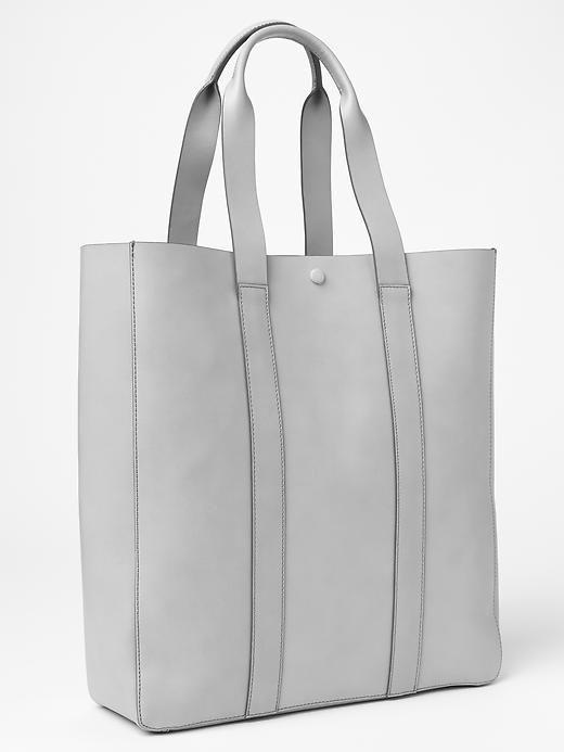 Gap white leather tote