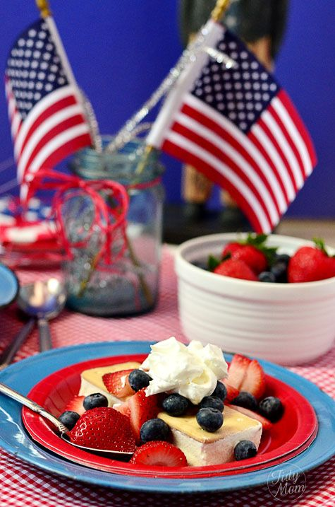 Patriotic Shortcake Ice Cream Sandwiches. These are as easy as it gets!