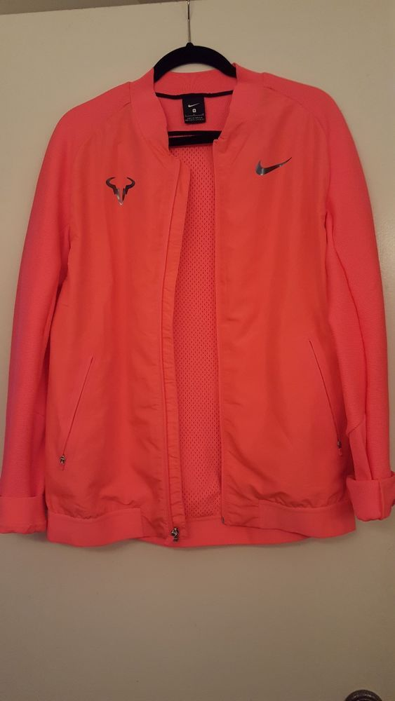 Nike Rafael Nadal Tennis Jacket Mens Size Small Laser Orange Retail 150 Fashion Clothing Shoes Accessories M Mens Jackets Mens Outfits Active Wear