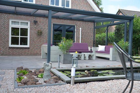 Veranda verandas patio porch roof terrace terras overdekt overkapping tuin - Overdekt terras in aluminium ...