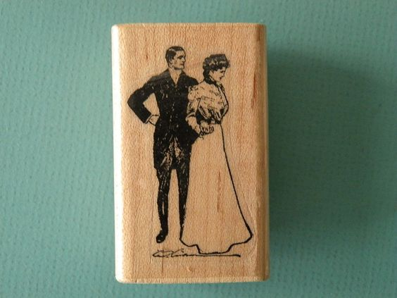 Victorian Couple STAMP CABANA Rubber Stamp
