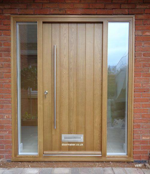 Contemporary Oak Door Sidelights 1000 In 2020 Contemporary Front Doors Modern Exterior Doors Exterior Oak Doors