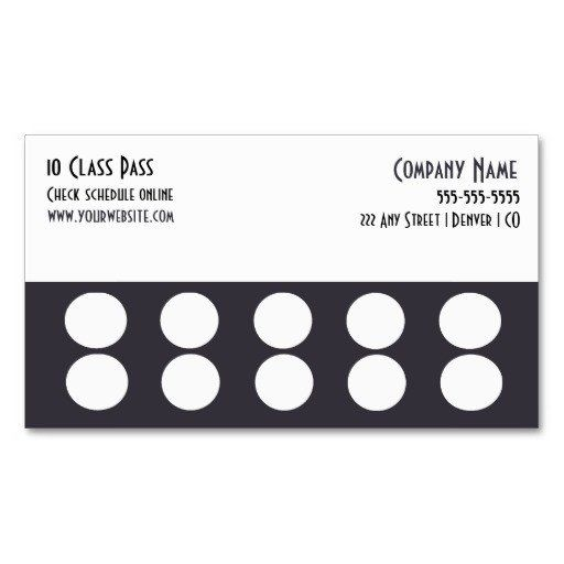 Punch Card Template Word Punch Card Template Loyalty Card Template Customer Loyalty Cards Card Templates Free