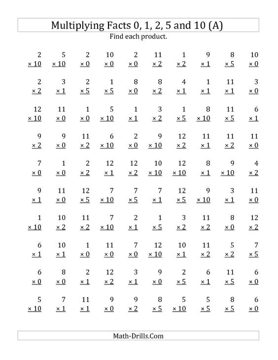Multiplication Worksheets Davezan – Early Multiplication Worksheets