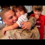 """""""My husband had been stationed in Afghanistan since July of 2011. He is a member of the Army Reserve as well as a police officer for Tampa Police Department. His leave was right before last Christmas and the kids had no idea he was coming home. My son would sit in his bed at night and cry about how he just wanted daddy to be home... and it broke my heart not to be able to tell him, but the surprise was well worth it! We had a great time, and daddy will be home for good this July!"""" -Danyelle…"""