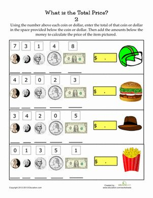 Printables Adding Money Worksheets adding money worksheets 2nd grade davezan amounts and second grade