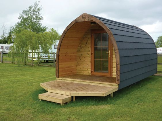This is the sister cabin to the log pod it is the gothic for Permanent tent cabins
