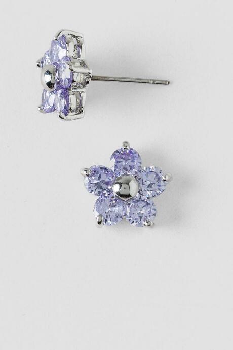 Edith Petite Flower Stud Earrings in Lavender $14.00