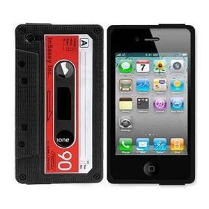 Silicone Cassette Tape Case for iphone