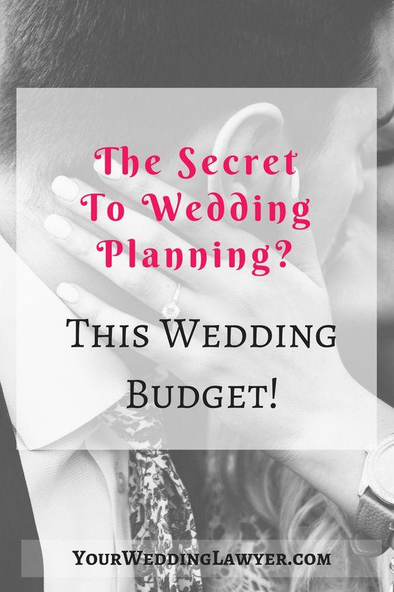 Wedding Budget Planner Spreadsheet Breakdown