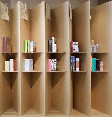 Foldaway Bookshop by London designers Campaign as part of the London Festival of Architecture. : Designers Campaign, Cardboard Bookshop, Foldaway Bookstore, Bookshops Delight, Bookshop Designed