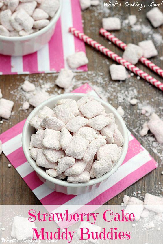 ... white chocolate chips chips puppy chow powdered sugar chocolate white