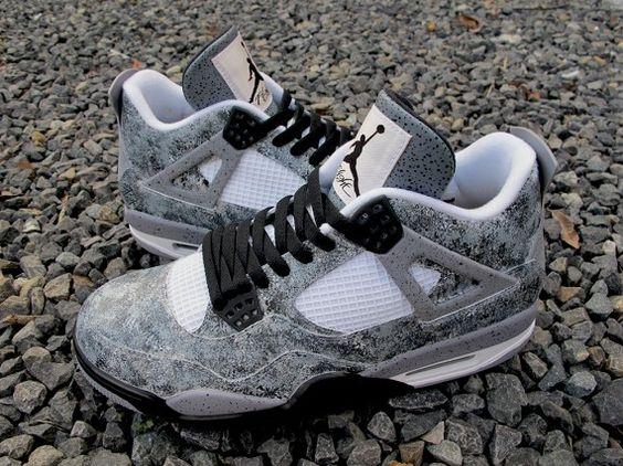"""Air Jordan 4 """"Asphalt"""" Customs by Sekure D Kicks on the . ... 53d72bae5"""
