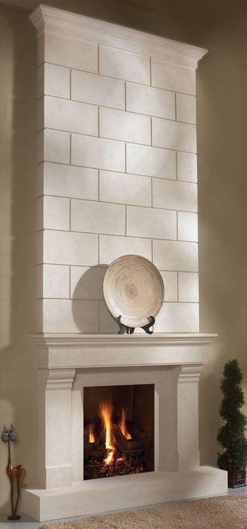 #fireplace overmantel  CLASSIC fireplace stone mantel - OmegaMantels.com