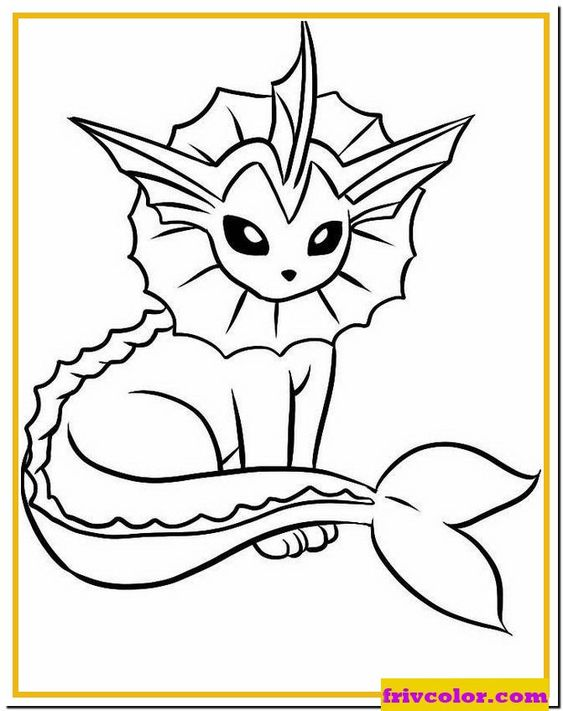 Pokemon Free Coloring Pages Vaporeon Eevee Pokemon Evolutions Friv Free Coloring Pages