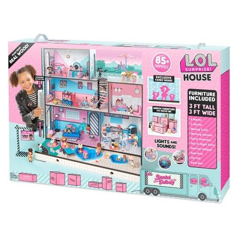 L O L Surprise Real Wood House With 85 Surprises Lol Dolls
